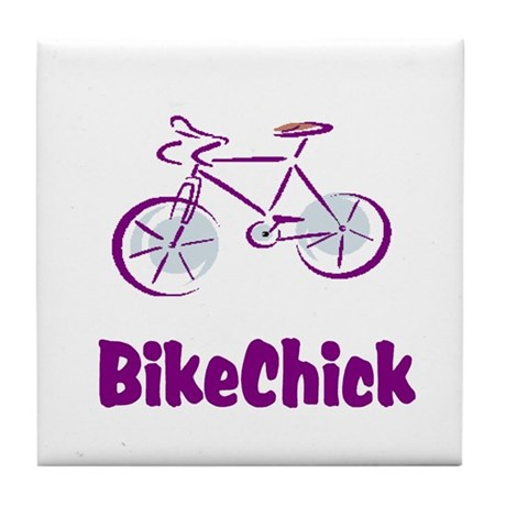 BikeChick Logo Tile Coaster