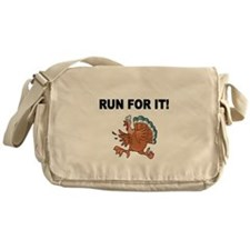 RUN FOR IT!-WITH TURKEY Messenger Bag