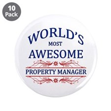 """World's Most Awesome Property Manager 3.5"""" Button"""