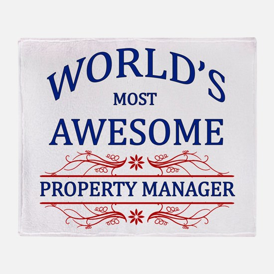 World's Most Awesome Property Manager Throw Blanke