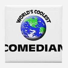 World's Coolest Comedian Tile Coaster