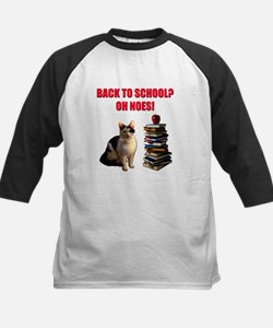 Back to school cat Baseball Jersey