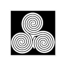 Triple Spiral Sticker