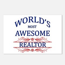 World's Most Awesome Realtor Postcards (Package of
