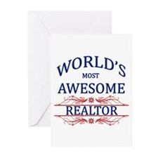 World's Most Awesome Realtor Greeting Cards (Pk of