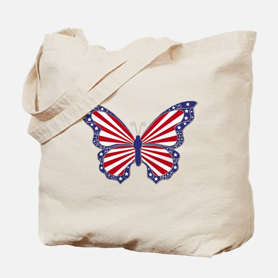 Patriotic Butterfly Tote Bag