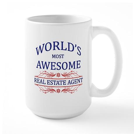 World's Most Awesome Real Estate Agent Large Mug