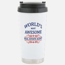 World's Most Awesome Real Estate Agent Travel Mug