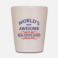 World's Most Awesome Real Estate Agent Shot Glass