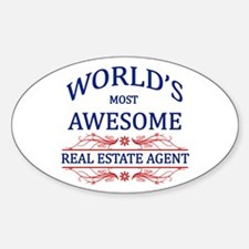 World's Most Awesome Real Estate Agent Decal