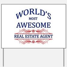 World's Most Awesome Real Estate Agent Yard Sign