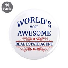 """World's Most Awesome Real Estate Agent 3.5"""" Button"""