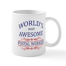 World's Most Awesome Postal Worker Mug