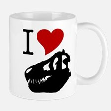 I Love Fossils Small Mugs