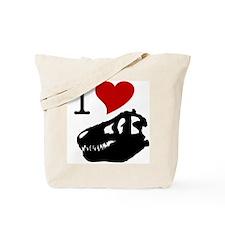 I Love Fossils Tote Bag