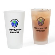 World's Coolest Construction Manager Drinking Glas