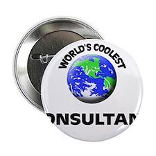 "World's Coolest Consultant 2.25"" Button"