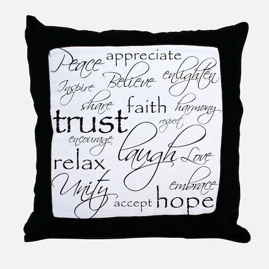 POSITIVE WORDS - Throw Pillow