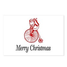 BikeChick Merry Christmas Postcards (Package of 8)