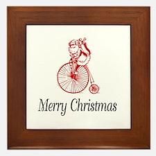 BikeChick Merry Christmas Framed Tile