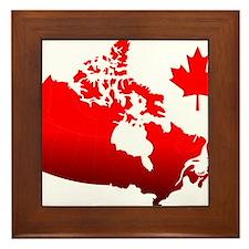 Canada Map Framed Tile