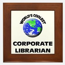 World's Coolest Corporate Librarian Framed Tile
