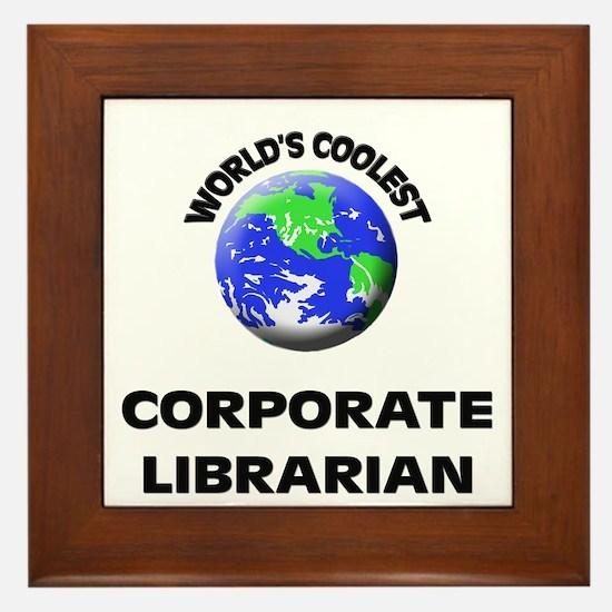 World's Coolest Corporate Librarian Framed Tile