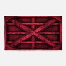 Rusty Shipping Container - red 3'x5' Area Rug