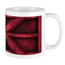 Rusty Shipping Container - red Mug