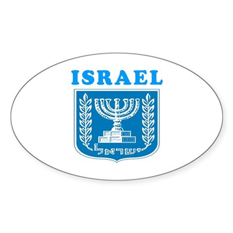 Israel Coat Of Arms Designs Sticker (Oval 10 pk)