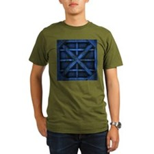 Rusty Shipping Container - blue T-Shirt