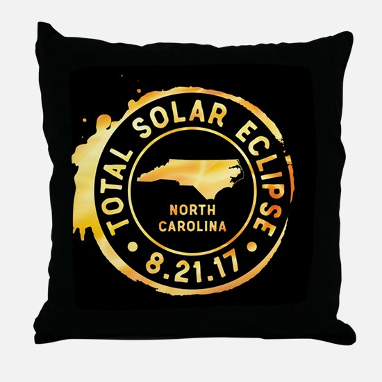 Eclipse N. Carolina Throw Pillow