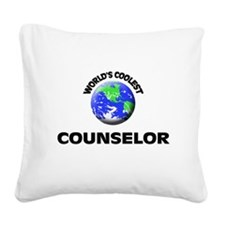 World's Coolest Counselor Square Canvas Pillow