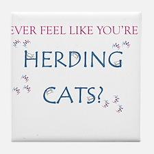 Herding Cats Tile Coaster