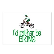 I'd rather be biking Postcards (Package of 8)