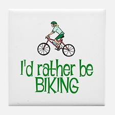 I'd rather be biking Tile Coaster