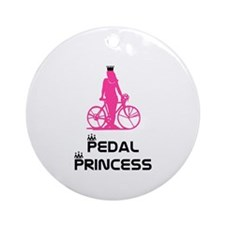 BikeChick Pedal Princess Ornament (Round)
