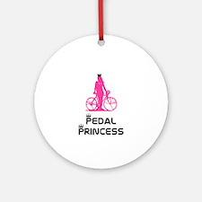 BikeChick Pedal Princess Ornament (Round)