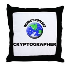 World's Coolest Cryptographer Throw Pillow