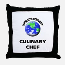 World's Coolest Culinary Cooks Throw Pillow