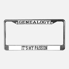 Genealogy License Plate Frame