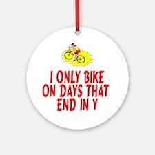 BikeChick Days Ornament (Round)