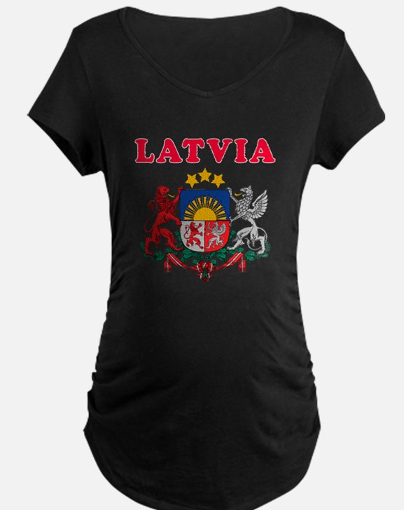 Latvia Coat Of Arms Designs T-Shirt