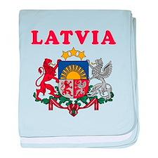 Latvia Coat Of Arms Designs baby blanket