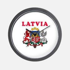 Latvia Coat Of Arms Designs Wall Clock