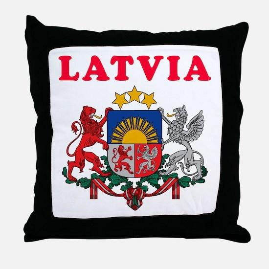 Latvia Coat Of Arms Designs Throw Pillow