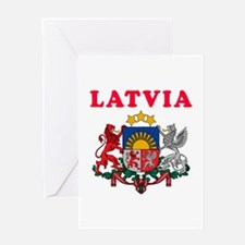 Latvia Coat Of Arms Designs Greeting Card