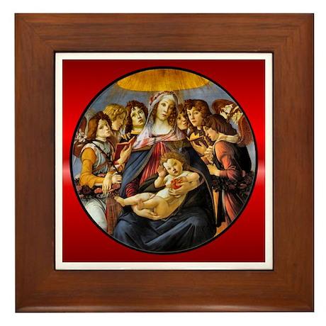 Madonna of the Pomegranate Framed Tile
