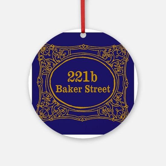 221b Baker St Ornament (Round)