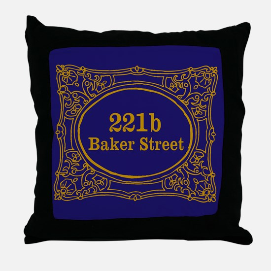 221b Baker St Throw Pillow